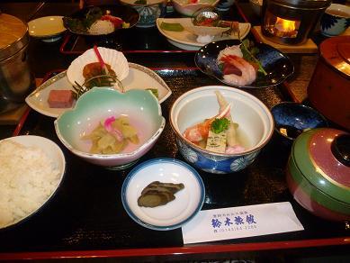 鈴木旅館で夕飯