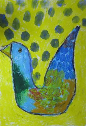 その鳥は、緑ののどを鳴らして私を誘う