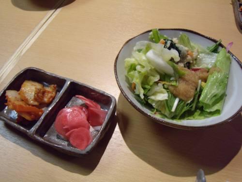 ブログ用 レストランひだまり サラダ、漬け物-1 008