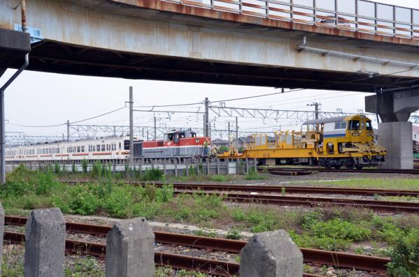 119系電車陸送準備のための移動