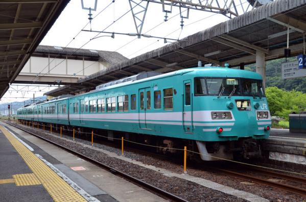 JR西日本の117系電車(御坊駅)
