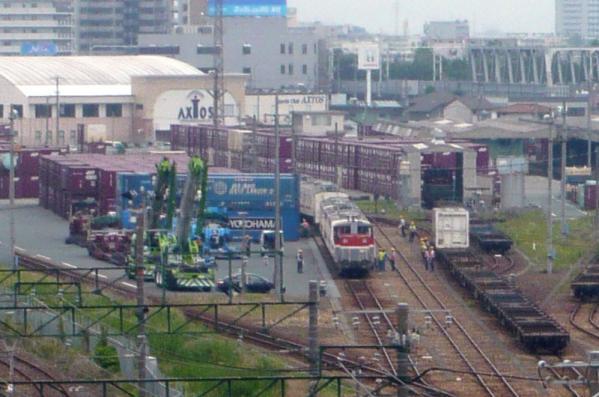 コンテナホームの119系電車