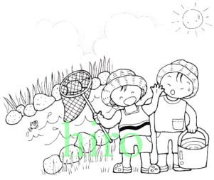 夏の子供・紫外線