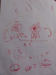 DSC04561ブー子の絵、タイトル「女の子」