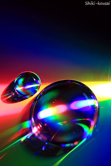 光の水玉写真・軌跡