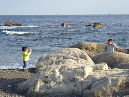 館山の海(1月14日)