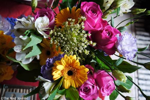 flowers from girls