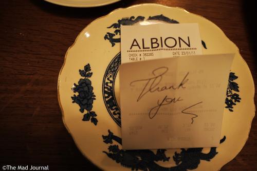 albion thankyou