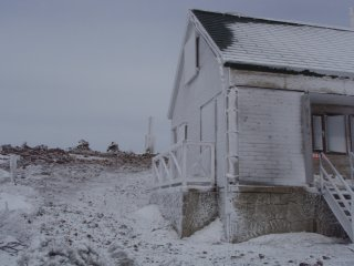 s山頂と小屋
