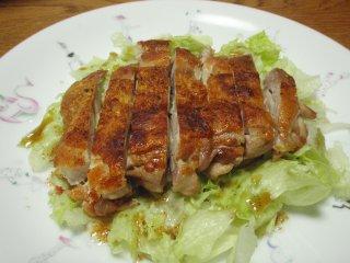 s鶏モモのパリパリ焼き4