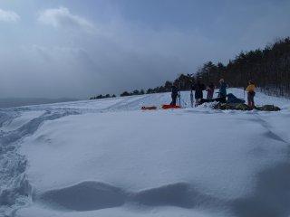 sスキー練習?2