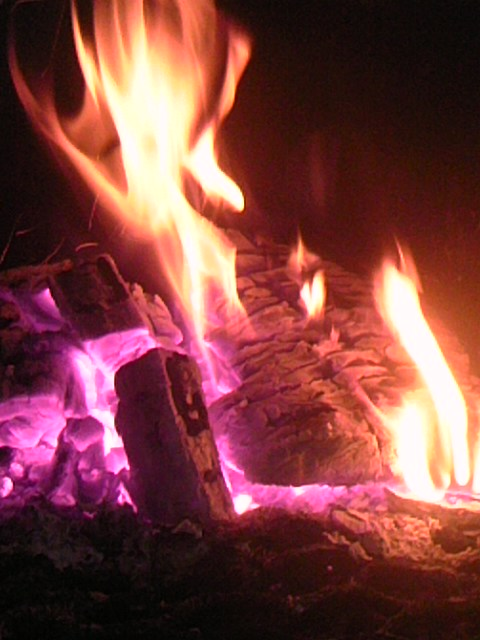 ストーブの火 003
