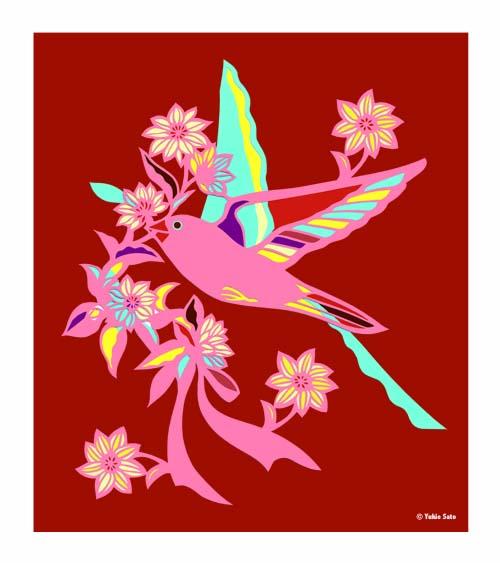 花を呼ぶ小鳥