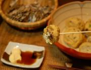 舞茸&貝柱のふわふわガンモ炙り