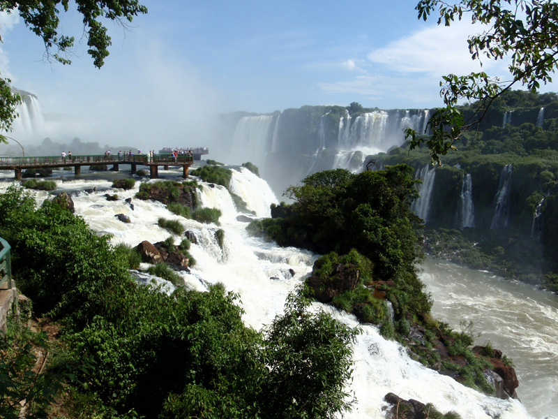 大自然と人とイグアスの滝