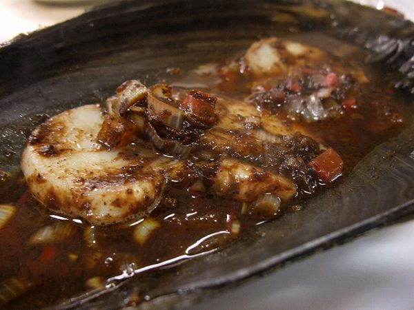 萬来園 平貝の豆チ蒸し