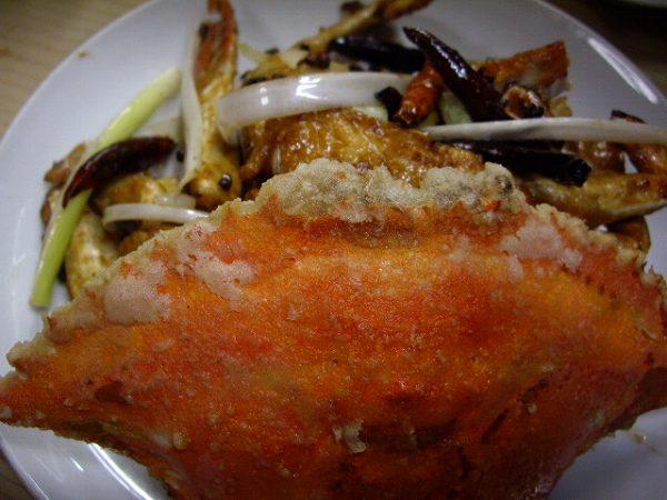 萬来園 渡り蟹の炒め