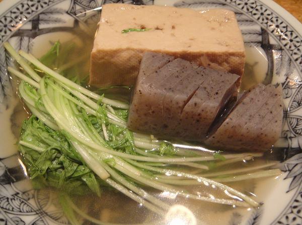 こなから 豆腐、こんにゃく、みず菜