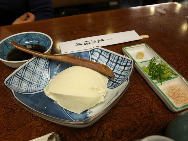 更科堀井 ざる豆腐
