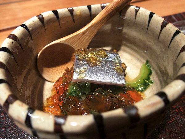 食幹 秋刀魚と苦瓜 ポン酢のジュレ