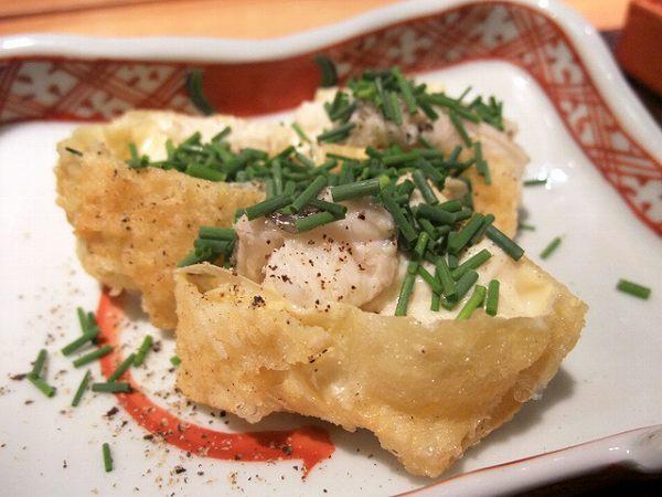 食幹 穴子と湯葉の天ぷら