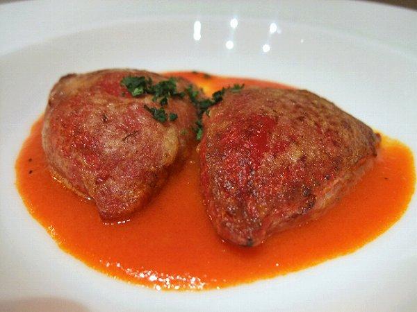 ABASQUE ずわい蟹のピキオ 赤ピーマンのソース