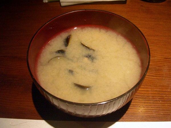 ぶどう家 miso soup