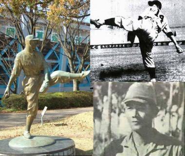 巨人軍のエース沢村投手も招集され第三十三連隊に入隊画像