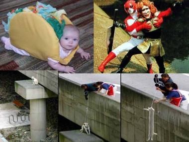 おもしろ写真でベビー<br />バーガーとエッチなヒーローと子犬か子猫の救出大作戦画像