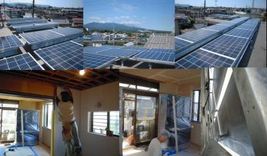 太陽光発電パネル設置完了1階リフォーム中完全無修正デジカメ写真
