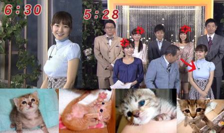 めざましテレビでの大塚さんのエロ動作完全無修正写真画像