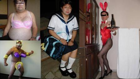 日本人の変わった男性達の完全無修正写真画像