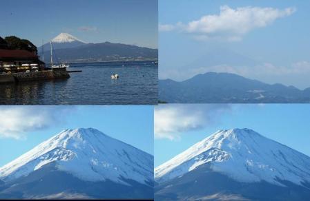 富士山を靜岡県東部地方沼津市からの撮影で絶対な完全無修正デジカメ写真です
