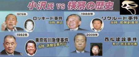 民主党小沢一郎VS検察の歴史完全無修正写真画像