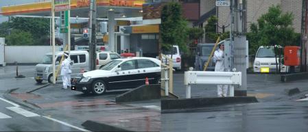 天皇皇后両陛下が靜岡県御殿場市へ来訪の準備する靜岡県警察官完全無修正デジカメ編集写真画像