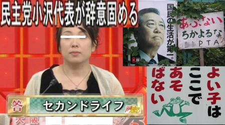 民主党 小沢代表が辞意 固める 完全無修正デジカメ編集写真