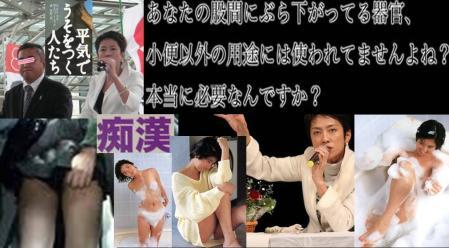 蓮舫大臣の元秘書は痴漢で捕まり秘書を辞めていた衝撃的なデジカメ編集写真画像