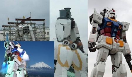 等身大ガンダムがお台場から靜岡へ移動建設工事の完全無修正デジカメ編集写真画像