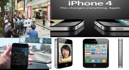 iphone4アイフォーン4がSOFTBANKで販売され始めた行列とそのたの写真編集