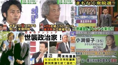 頼りない日本の世襲政治家連中ども小泉純一郎進次郎 渡辺周 小渕優子の完全無修正デジカメ編集写真