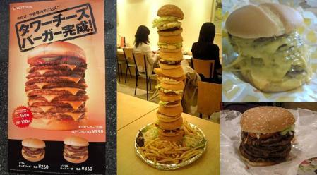 世襲政治家議員連中は一般市民の目線に立てないから知らない流行の多くのハンバーガーのタワーハンバーガーやロケットハンバーガーの完全無修正おもしろ写真