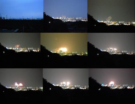 花火大会 狩野川花火大会の様子を沼津市の山側より撮影の完全無修正写真