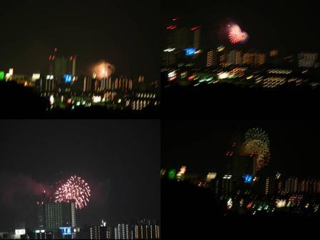 花火大会の打ち上げ花火を望遠カメラで完全無修正写真