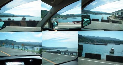 千本からドライブで西浦から静浦方面へ向った時の駿河湾の様子写真