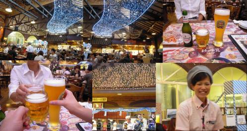御殿場高原ビールでまずは地ビールで乾杯し店員のカワイイカツマ○さんをブログ記事に載せる許可をもらい写真を撮ったのです