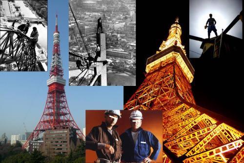 東京タワーを建設した当時の鳶職人さん達の力は絶大だったが陰に隠れてしまったのです