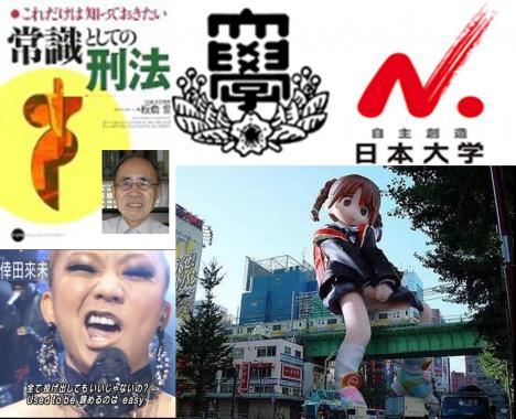 キューピーの著作権について述べた日本大学の板倉宏名誉教授に変な顔のコウダクミに超デカイ癒され人形出現だよ