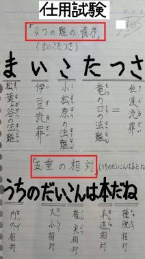 創価学会の任用試験出題予定の「日蓮大聖人が遭われた4つの難の順序」と「五重の相対」の暗記記憶方法です