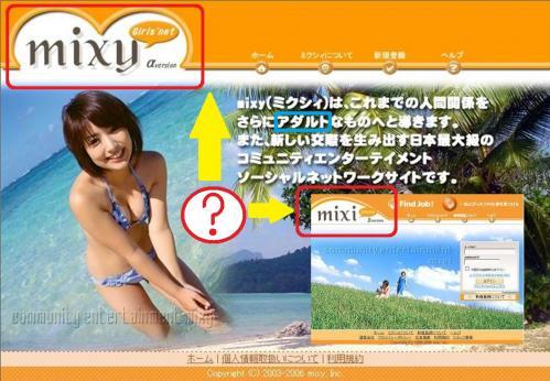 mixiしてるが最近はmixyというアダルトなものへ導くコミュニティエンターテイメントソーシャルネットワーキングサイトが登場したそうですな