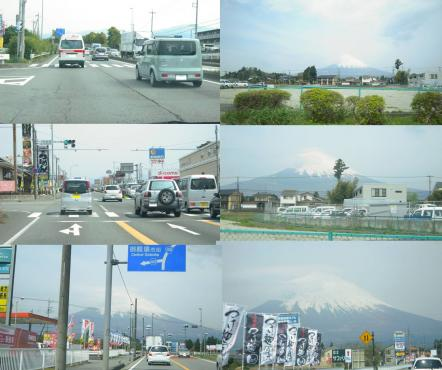 2011GWに富士山を眺めながら国道246バイパスでR138へ向かう富士山写真